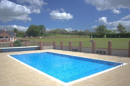 The Outdoor Heated Pool at West Fleet Holiday Farm